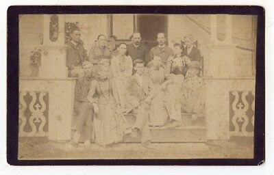 Large c1891 Cab Card of Wood Family & Relatives, Victory, New York
