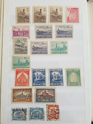 Old Estonian Stamps mix **  franked and unfranked ** 2 pages