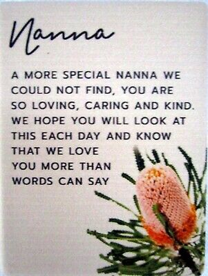 """Ceramic """"Nanna"""" Magnet With Beautiful Verse! Lovely Christmas Gift! Bnib"""
