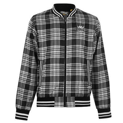 05193b1b LACOSTE MENS VINTAGE Black And White Check Shell Track Top Jacket ...