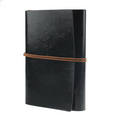 PU Leather Retro Spiral Ring Binder Notebook Diary Journal Travel Notepad G3L0