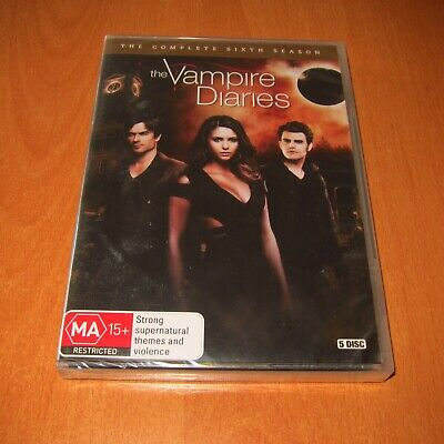 The Vampire Diaries : The Complete Season 6 ( Dvd 5 Disc Set Region 4 ) ~ New !