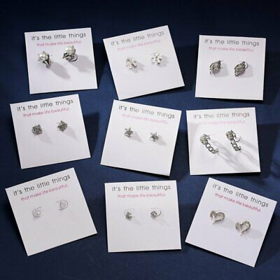 Chic Korean Style Gold/Silver Women Girls Heart Ear Stud Earrings Jewellery Gift