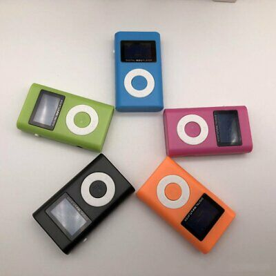 Portable Mini Mp3 Player Color Plastic Shell With Lcd Screen Support Tf Card FG