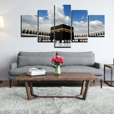 5Pcs Islamic Church Poster Canvas Print Painting Home Office Wall Art Decor AU
