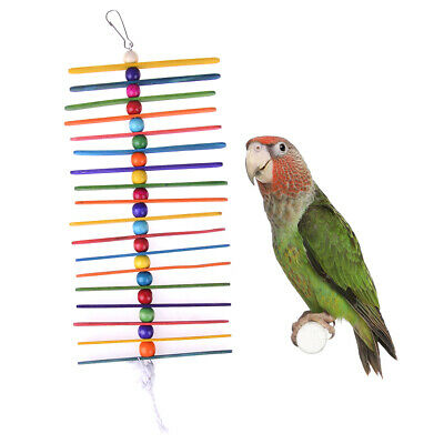 Bird Small Parrot Hanging Tearing Toy and Popsicle Sticks Bird Toy for Pet HQ
