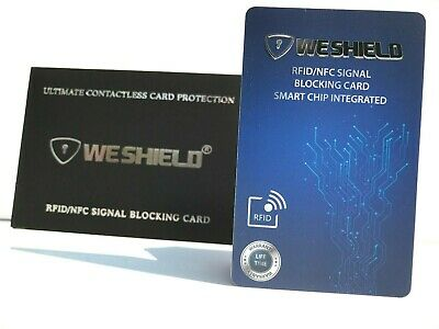 WeShield® RFID/NFC Signal-Blocking Card - Advanced Contactless Card Protector