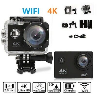 Pro Cam 4K SPORT WIFI ACTION CAMERA ULTRA HD 16MP VIDEOCAMERA SUBACQUEA GOPRO