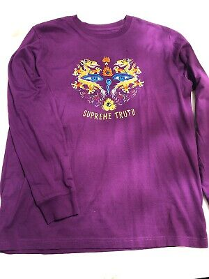 328776a37f3c Supreme Truth L/S Tee Purple Size XL Embroidered Long Sleeve Shirt Dragon  Rare!