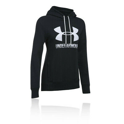 Under Armour Womens UA Favourite Fleece Pullover Hoodie Black Sports Gym Hooded