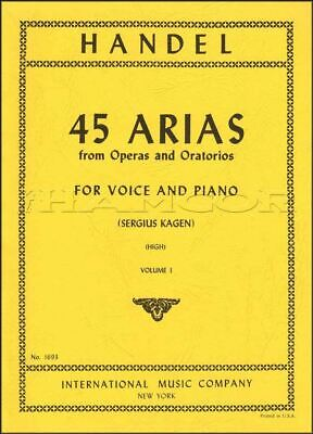 Handel 45 Arias for High Voice and Piano Sheet Music Book SAME DAY DISPATCH