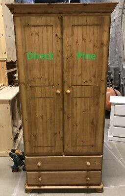 Armoires & Wardrobes Furniture Pine Furniture Sandringham Gents 2 Drawer Wardrobe No Assembly Required!!!