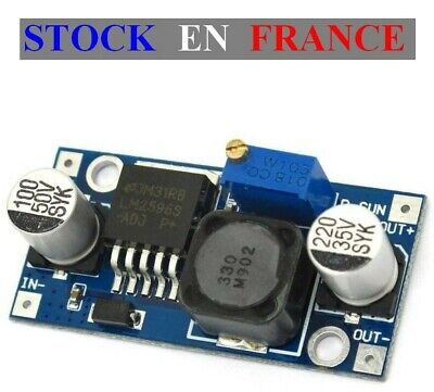 Module alimentation Step Down ADJ - LM2596 HV - DC DC - IN:3-50V OUT:1.2-35V 3A