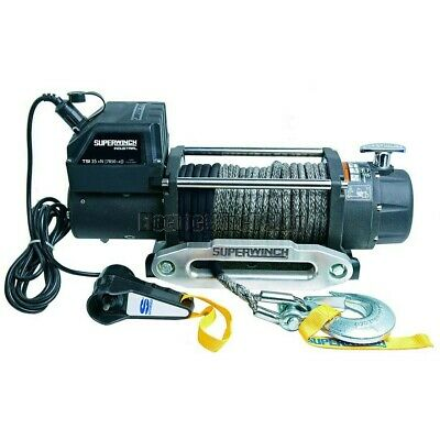 Electric Winch Superwinch Tiger Shark Industrial 7800lb 24v WITH WIRELSS CONTROL