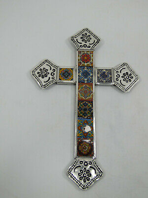 CROSS punched tin hand made crosses, home decor Mexican folk art