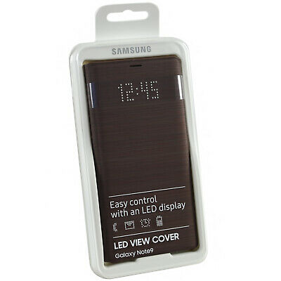 Genuine Samsung LED Smart Notification Wallet Flip Case Cover For Galaxy Note 9