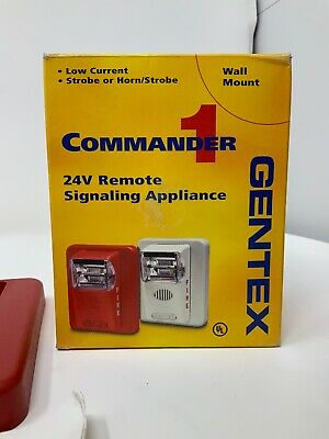 Gentex Commander 1 ST24-75WR Fire Alarm With Strobe