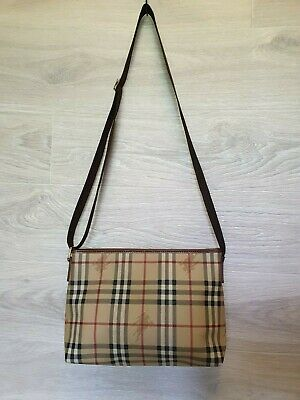 9e59496072 Authentic Burberry London Haymarket Messenger Shoulder bag Nova Check PVC  Plaid
