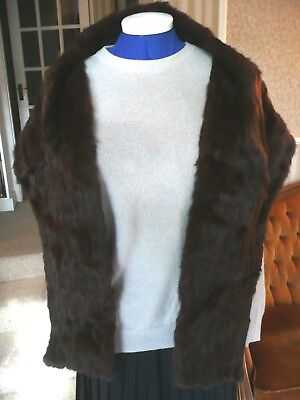 Vintage Quality Fur Stole/Shawl/Wrap from Brown and Muffs, Bradford. Excellent.