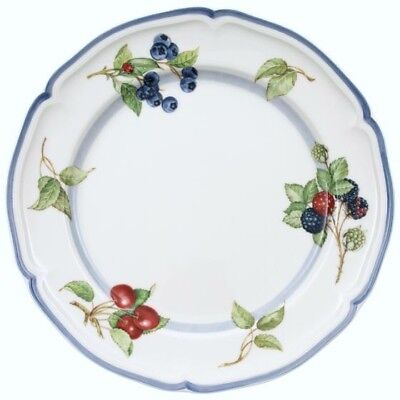New Villeroy & Boch Cottage Inn Dinner Plate Fruits Premium Porcelain Germany