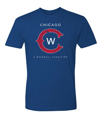 New Vintage Chicago Cubs T Shirt Mens - SOFT STYLE
