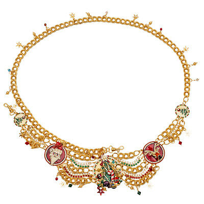 """Lunch At The Ritz Santa """"White Christmas"""" Jewelled Belt RARE From Esme's Vault"""