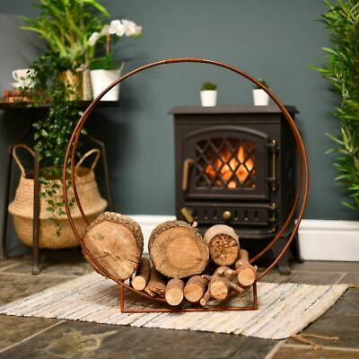 Rustic Harewood Park Contemporary Wrought Iron Log Holder
