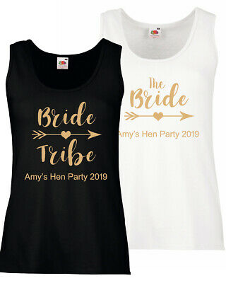 f899da613e Vest Tank Top Hen Do Party Bride Tribe 2019 Personalised T-shirt Ladies Tee  New