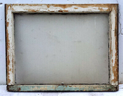"30""x23.5"" Antique Vintage Wood Wooden Frame Sash Window Textured Glass Lite Pane"
