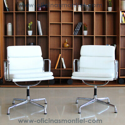 VITRA Original Soft Pad Chair EA 208 Charles & Ray Eames, 1969 (pack 2 units)