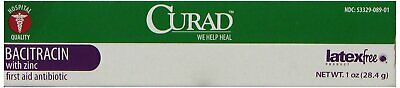 Curad Medline latex-free Bacitracin First Aid Anitbiotic 1 oz
