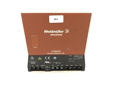 WEIDMULLER CONNECT POWER 8708680000 POWER SUPPLY CP SNT 250 W 24 V 10 A