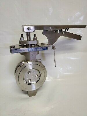 "Jamesbury Butterfly Valve 815W 11, 3"" #150 Wafer Stainless Steel, Lever Handle"