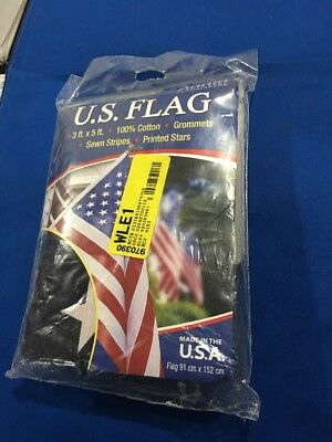 Annin Flagmakers 3 X 5' Ft 100% Cotton Grommet Style U.S Flag