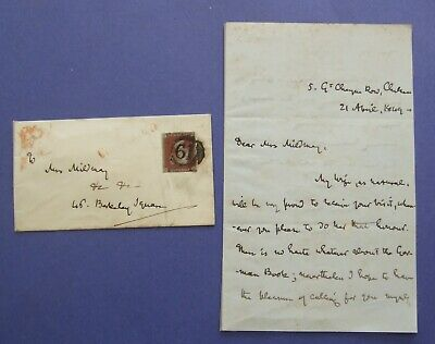 1849 Thomas Carlyle Manuscript Letter Signed Stamped Envelope Wax Seal Historian