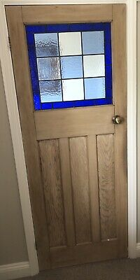 Reclaimed 1930s 1 over 3 panel stripped pine doors.(10 available)