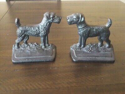 Vintage Bookends Dog  Terrier,Airedale,Fox,Welsh. Heavy numbered