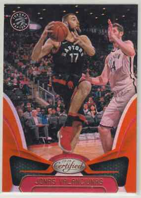 2018-19 Panini Certified Jonas Valanciunas 93/99 Toronto Raptors Base Orange