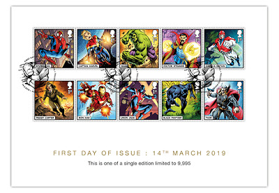 *NEW* GB 2019 Marvel Comics FDC Stamp Collector Card Ltd Edition 9,995