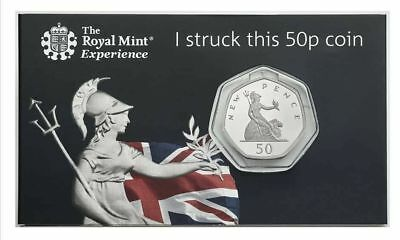 Royal Mint STRIKE YOUR OWN COIN Britannia 50p Fifty Pence 2019 50 years of 50p