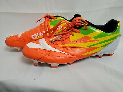 3ee13745 DIADORA VERONA UNISEX Soccer Cleats Yellow/Green/Orange/White Size USA 9