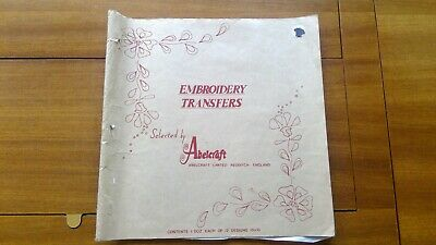 Deightons Book of Iron On Embroidery Transfers - 27 pages, 140+ transfers
