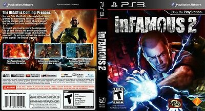 Sony Ps3 Replacement Game Case and Cover Infamous 2