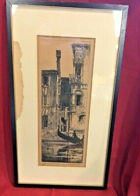 (APPRAISED)TINTORETTO'S HOUSE VENICE:Rudolph J.Nedved,dated,signed and numbered