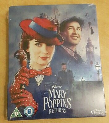 Steelbook Le Retour De Mary Poppins / Mary Poppins Return Neuf Avec VF