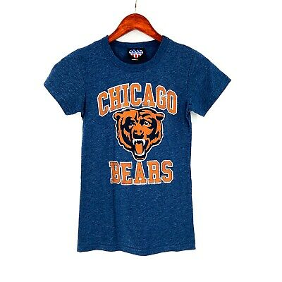 b8460c26 JUNK FOOD CHICAGO Bears Vintage Tee Electric White New Navy Size ...