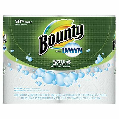 Bounty with Dawn Giant Rolls, White, 2 Count (1 Package with 2 Rolls)