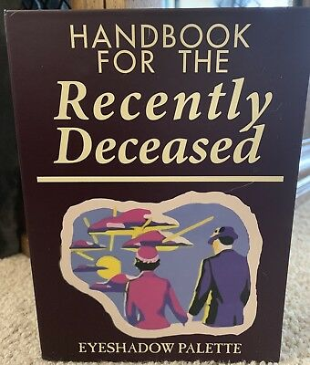 "Beetlejuice's ""Handbook For The Recently Deceased"" Eyeshadow Palette (read list)"