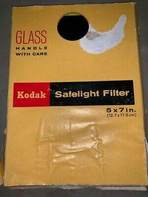 Kodak Safe Light Filter 5x7 Unopened
