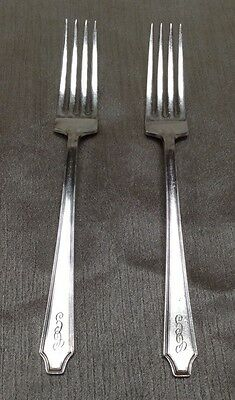 2 Piece Set 1847 Rogers Bros Vintage Silverplate Flatware Silverware Forks